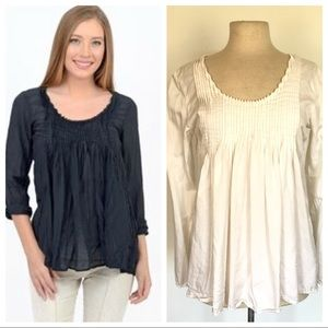 CP Shades Rochelle White Washable Silk Loose Top